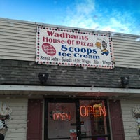 Photo taken at Wadham's House of Pizza and Scoop's Ice Cream Parlor by Marianne on 4/20/2013