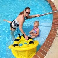 Photo taken at Five Oaks Pool by DSJBean on 6/1/2014