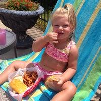 Photo taken at Five Oaks Pool by DSJBean on 7/23/2014