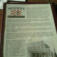 Photo taken at Meeder's Restaurant by Elliot on 12/23/2012