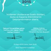 Photo taken at Selçuk Üniversitesi Sualtı Arkeoloji Araştırma ve Uygulama Merkezi Kemer by Ülkay A. on 5/15/2015
