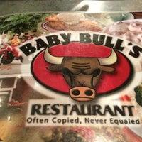 Photo taken at Baby Bull's Restaurant by Amanda on 12/24/2012