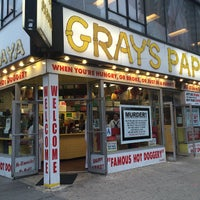 Photo taken at Gray's Papaya by Tania on 5/22/2015