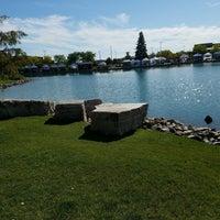 Photo taken at Jordan Creek Pond by Miranda C. on 10/9/2016