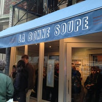 Photo taken at La Bonne Soupe by Carissa O. on 3/23/2013