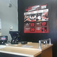 Photo taken at Sport Clips Haircuts of Mesa by Tyler H. on 6/3/2014