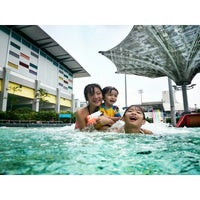 Photo taken at Sengkang Swimming Complex by Moses A. on 9/9/2014