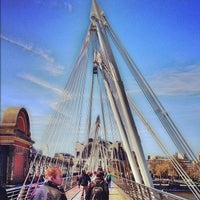Photo taken at Hungerford & Golden Jubilee Bridges by Martin S. on 5/2/2013