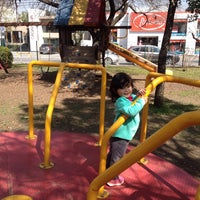 Photo taken at Parque Mariano Escobedo by Ac L. on 2/7/2015