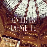 Photo taken at Galeries Lafayette Haussmann by Amir Helmi on 3/16/2013