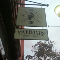 Photo taken at Fivehands Curiosity Shoppe by Michael B. on 10/22/2013