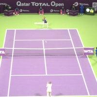 Photo taken at Qatar Tennis Federation by Maricris on 2/17/2013