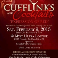Photo taken at CUFFLINKS & COCKTAILS by Howard P W. on 1/31/2013