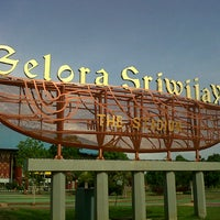 Photo taken at Stadion Gelora Sriwijaya (GSJ) by Andi S. on 10/19/2012