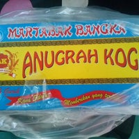 Photo taken at Martabak Bangka Anugrah Koga by Agus S. on 10/14/2012