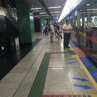 Photo taken at 地铁广州火车站 Metro Guangzhou Railway Station by Chucho R. on 6/11/2016