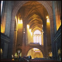 Photo taken at Liverpool Cathedral by Chris P. on 7/2/2013