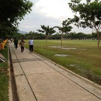 Photo taken at Lapangan Blang Padang by Ericko on 2/2/2013