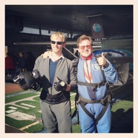 Photo taken at AtmosphAir Skydiving by Timothy H. on 10/21/2012