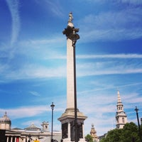 Photo taken at Trafalgar Square by Victoria on 6/30/2013