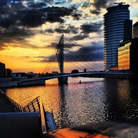 Photo taken at Salford Quays by Alaa A. on 6/7/2013