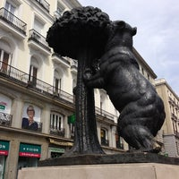 Photo taken at Puerta del Sol by Evrim B. on 4/9/2013