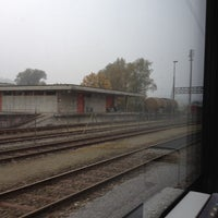Photo taken at Bahnhof Rotkreuz by Vicky L. on 10/22/2012