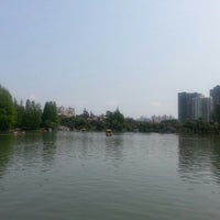 Photo taken at Sihai Park by alina a. on 4/12/2014