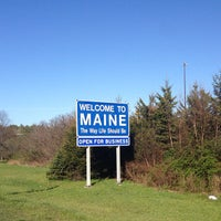 Photo taken at New Hampshire / Maine State Line by Tanja on 5/5/2013
