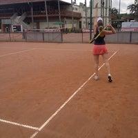 Photo taken at Quadras De Tenis Do Bela by Thaise Fernanda F. on 5/5/2014