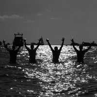 Photo taken at Nixon Beach by Aram on 4/13/2014