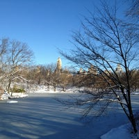 Photo taken at Bow Bridge by Andrea C. on 2/9/2013