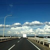 Photo taken at 羽根倉橋 by Puju R. on 9/3/2013
