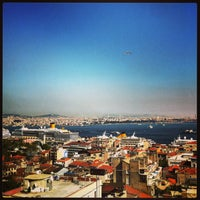 Photo taken at Georges Hotel Roof Terrace by Şenol on 4/25/2013
