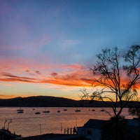 Photo taken at Cornelian Bay by Mia G. on 9/6/2014