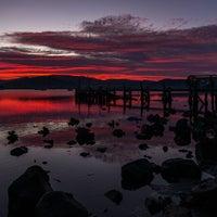 Photo taken at Cornelian Bay by Mia G. on 7/3/2014