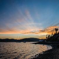 Photo taken at Cornelian Bay by Mia G. on 8/30/2014