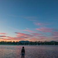 Photo taken at Cornelian Bay by Mia G. on 9/5/2014