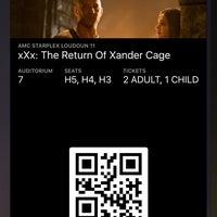 Das Foto wurde bei AMC Starplex Cinemas Loudoun Luxury 11 von William S. am 1/21/2017 aufgenommen