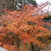 Photo taken at 偕楽橋 by Hlevangr on 12/17/2012