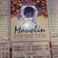Photo taken at cafe mandolin - old San Juan by Allie C. on 1/27/2014