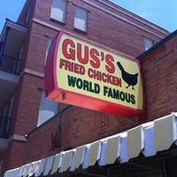 Photo taken at Gus's World Famous Hot & Spicy Fried Chicken by Andrew O. on 6/14/2013