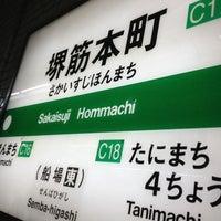 Photo taken at Sakaisuji-Hommachi Station by Akilla on 5/19/2013