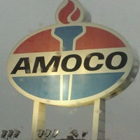 Photo taken at World's Largest Amoco Sign by Kyle K. on 1/11/2012