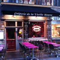 Photo taken at La Crêperie de la Vieille Bourse by Thomas G. on 10/19/2011