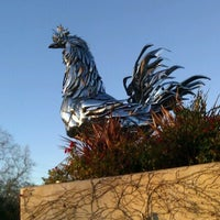 Photo taken at The Big Chrome Rooster by Tracey B. on 1/28/2012