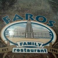 Photo taken at Faros Family Restaurant by eva b. on 1/5/2012
