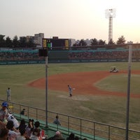 Photo taken at Cheongju Baseball Stadium by hesisi on 4/18/2012