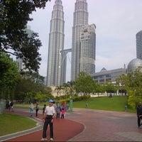 Photo taken at Kuala Lumpur City Centre (KLCC) Park by ♛Syazni F. on 10/7/2012