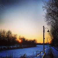 Photo taken at Genneper Parken by Marc D. on 12/28/2014